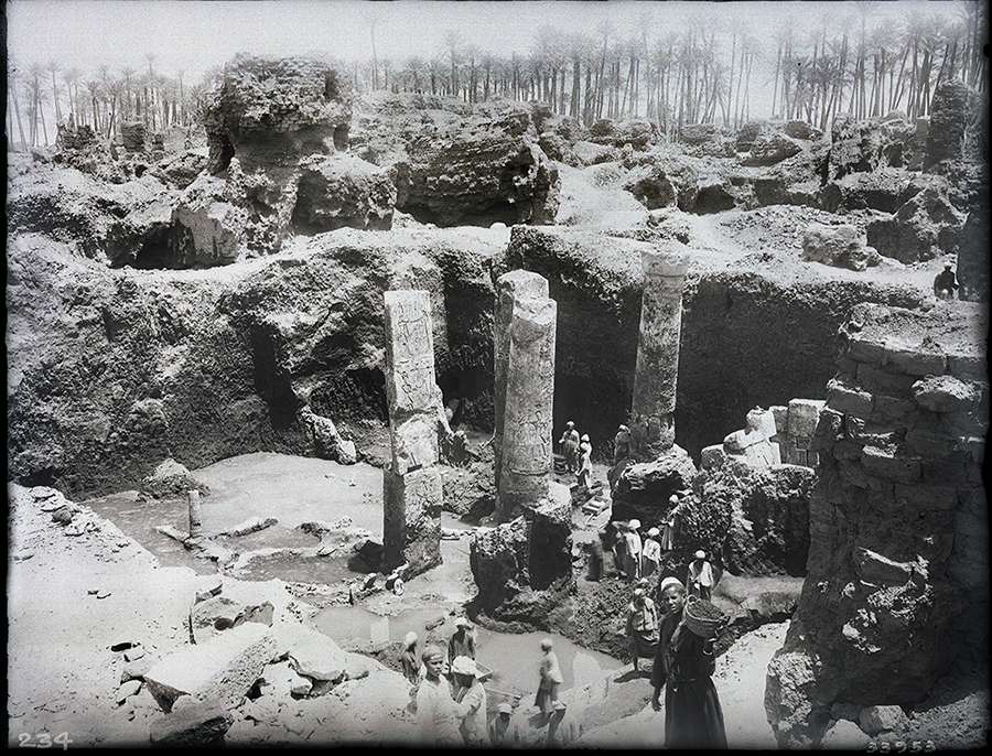 Site image of the Coronation Chapel during excavation