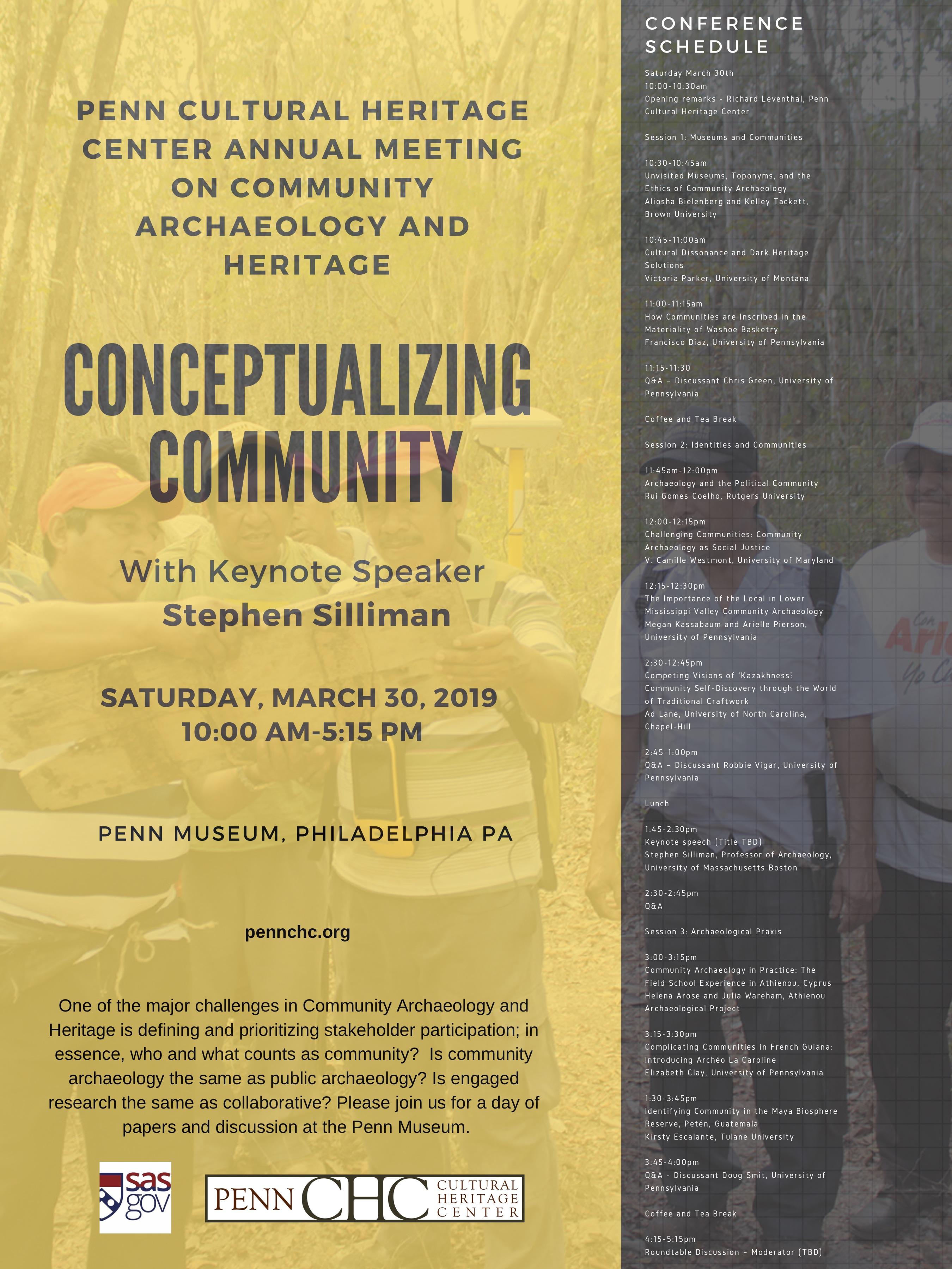 Penn Cultural Heritage Center | Conceptualizing Community