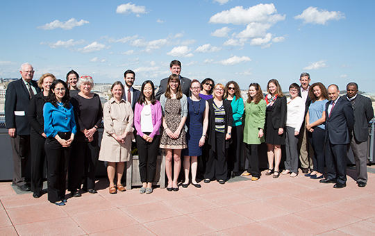 Group photo of a the Conflict Culture Research Network