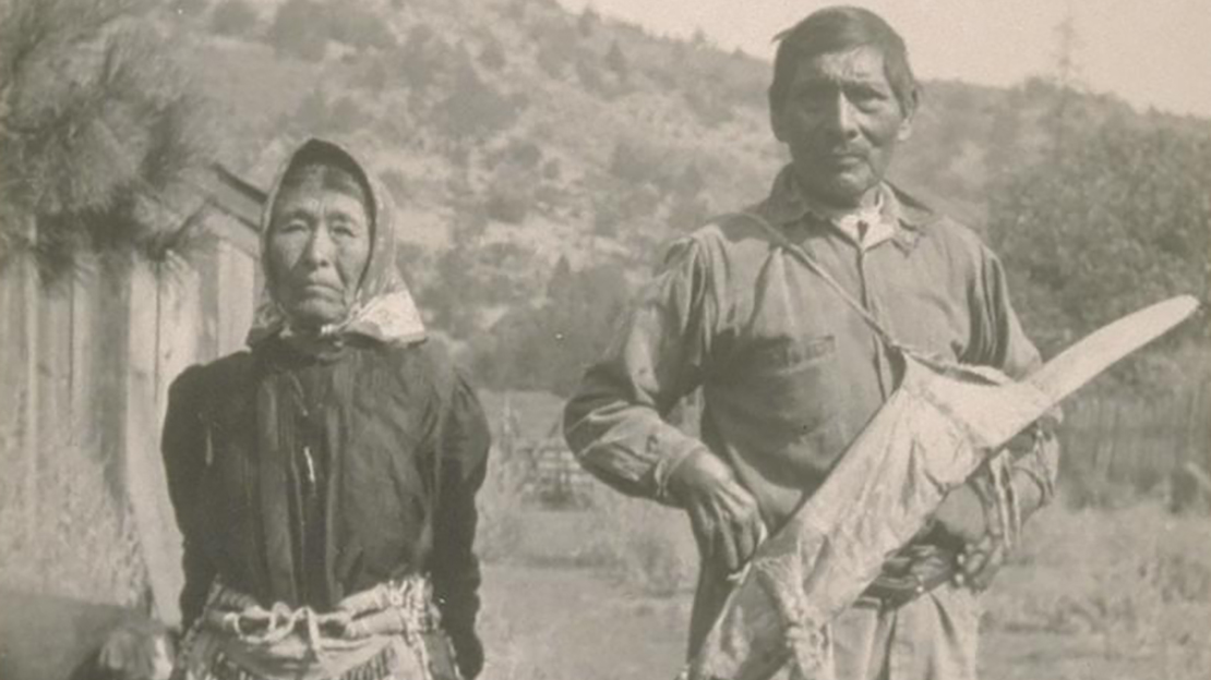 A portrait of a chief and his wife