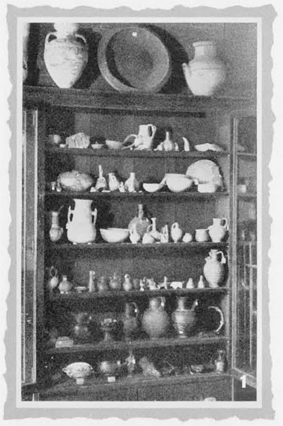 Case from the University Library where the Museum began.