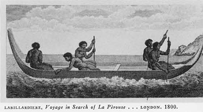 image of men in canoe