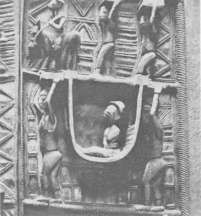 (4) Pictorial panel doors  carved by Areogon of Abeokuta in Yorubaland, one of the treasures of the British Museum.