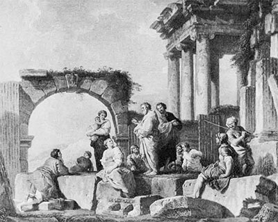 drawing of apostle preaching