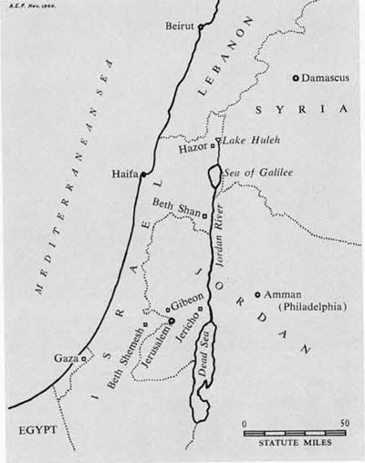 Beth Shean area Map