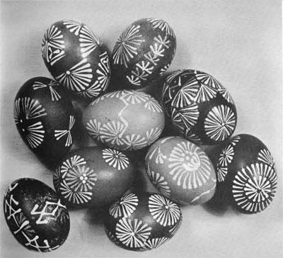 Lituanian Easter Eggs by Mrs. Irene Norkus.