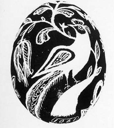 Pennsylvania Dutch Egg. 1901. (Courtesy of Pennsylvanian Folklife Society)
