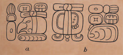 drawing of glyphs.