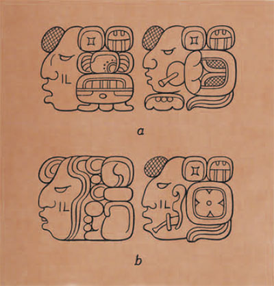 drawing of glyphs