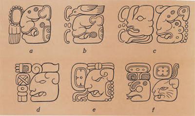 drawings of glyphs