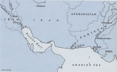 Map of Iran, Afghanistan, Pakistan, and Iraq