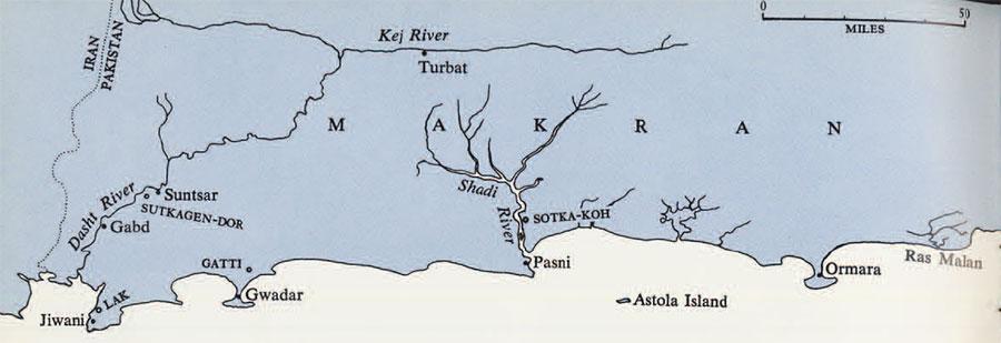 Map of Makran
