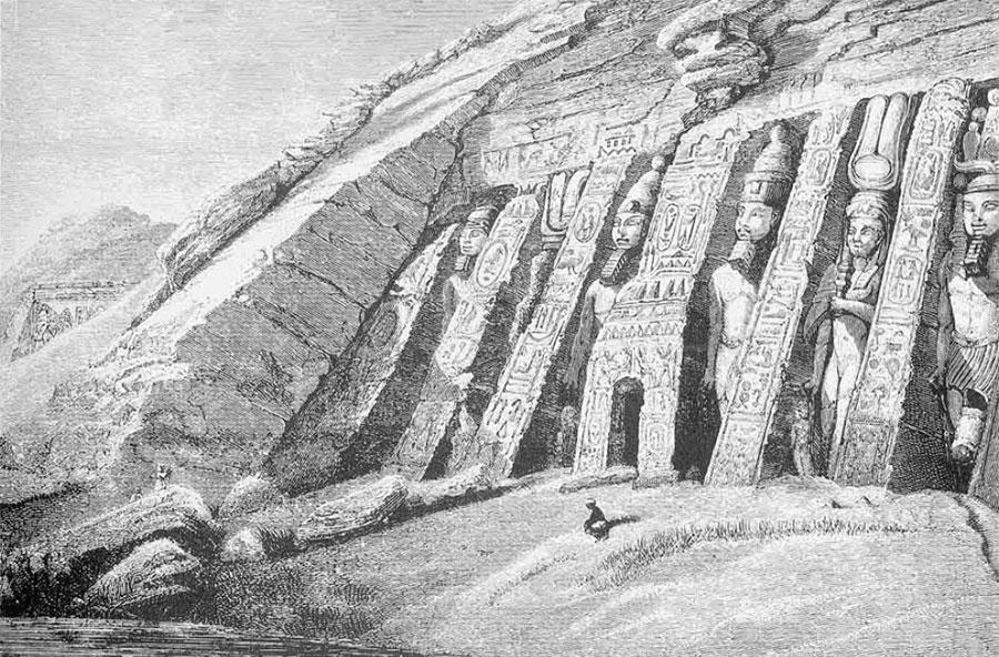 drawing of Smaller Temple, Abu Simbel