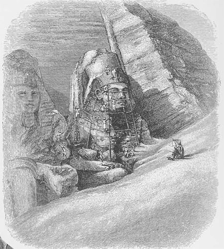 Drawing of Cleaning the Colossus
