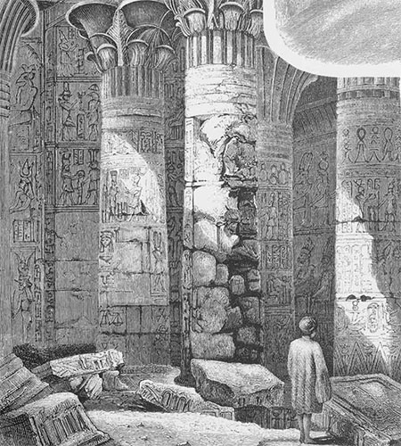 drawing of Painted columns