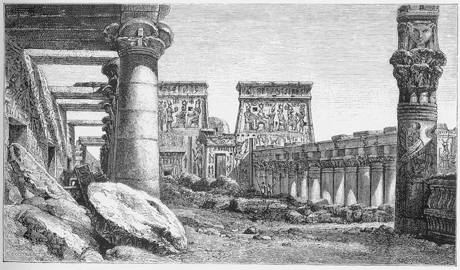 drawing of The Grand Colonnade