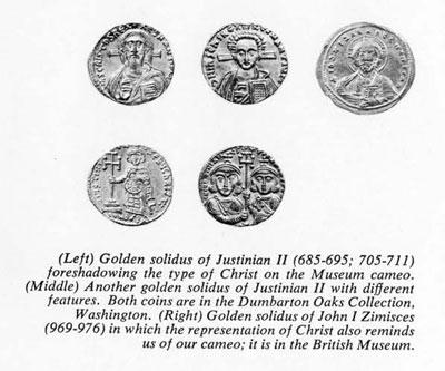 Golden solidus of Justinian II