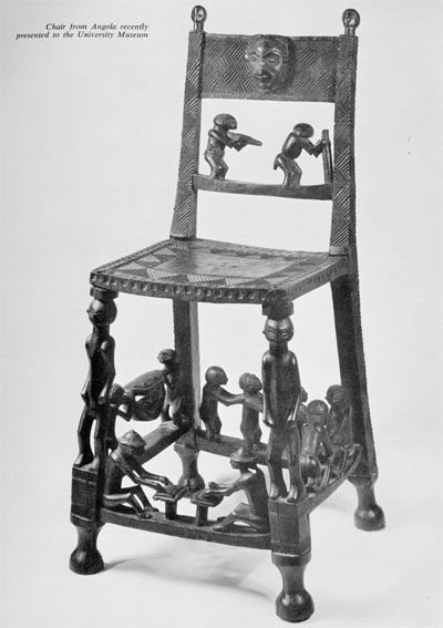 Chair from Angola recently presented to the University Museum.Museum Object Number: 62-3-1