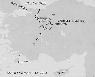 Map of Phrygia