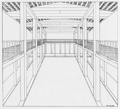 Drawing of great hall