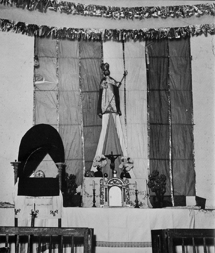 Photo of skull altar