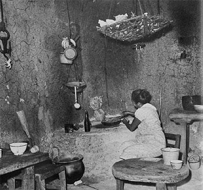 photo of woman preparing food.
