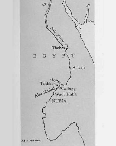 Map of Egypt including Nubia