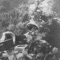 Photo of diver working underwater
