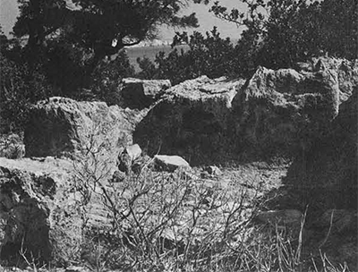 Ras el-Hilal: a rock-cut chamber on high ground.