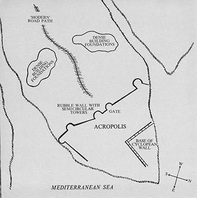 Wade el Chalig: Fortified Greek Settlement on a promontory between two wadis.
