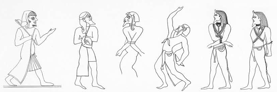 Impressions of Bronze Age Libyans from Egyptian monuments.