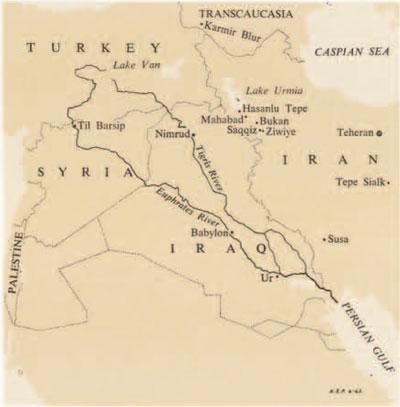 ziwiye_iraq_map