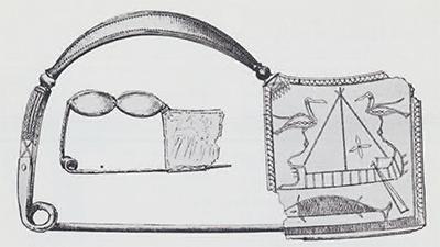 Two Late Geometric bronze fibulae from Boeotia, Greece. Late 8th century B.C. Lengths: 15.5 cm.; 13.5 cm.