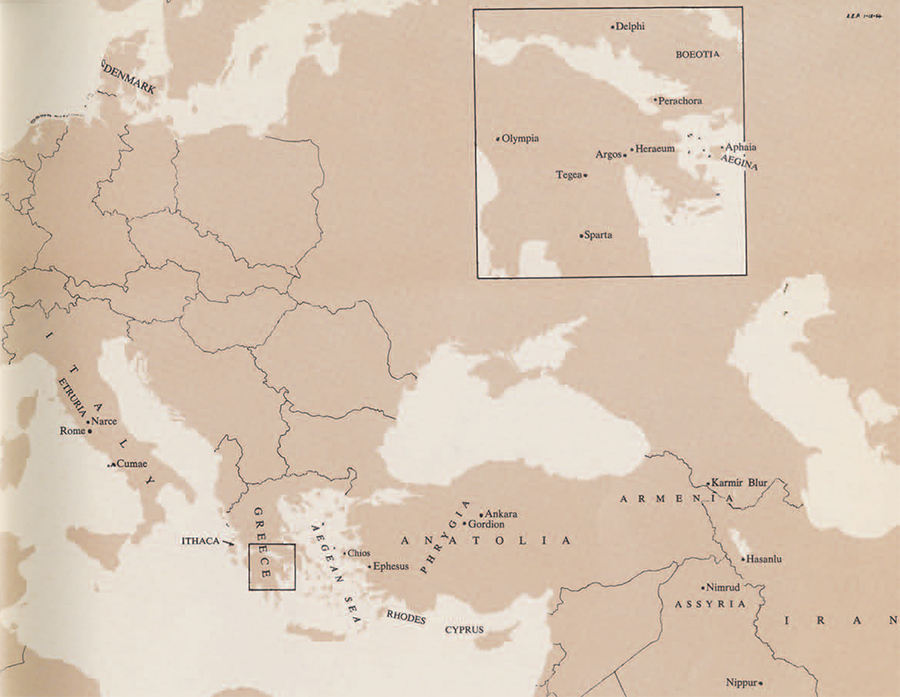 Map showing occurrence of fibulae in the ancient world.