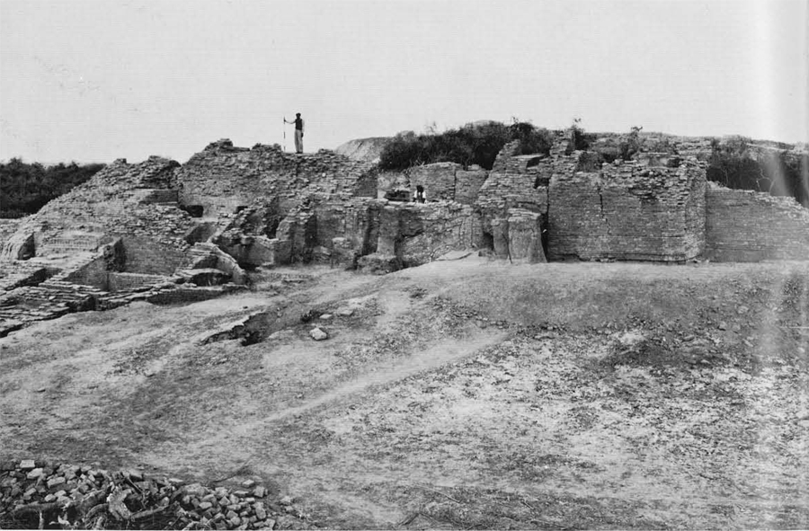 The citadel fortifications at Mohenjo-daro