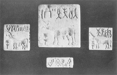 Seals excavatedat Lothal, with same script as Mohen-daro