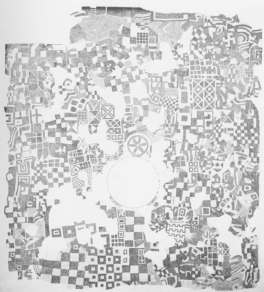 Drawing By JS Last Of The Eighth Century Phrygian Mosaic