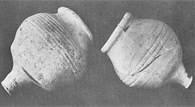 The so-called Indus goblets. These are known only in late levels at Harappan sites and provide one of the few reliable dating criteria for the internal chronology of the Indus civilization.