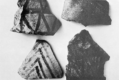 Bronze Age sherds from the hearth area