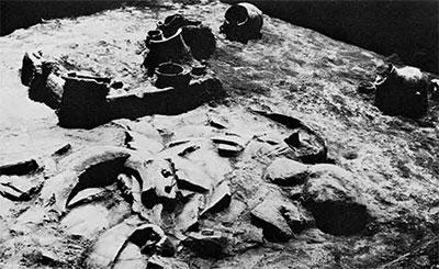 Iron Age hearth area. 1,000 B.C.