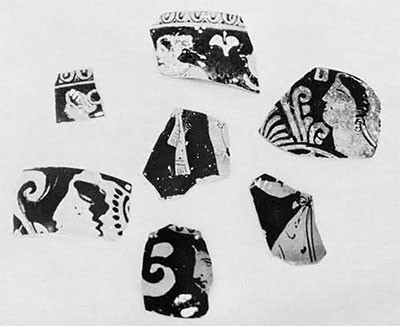 Red-figured pottery sherds
