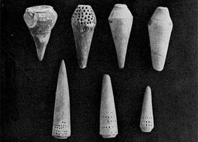 Photo of terracotta cones