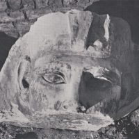Photo of statue head.