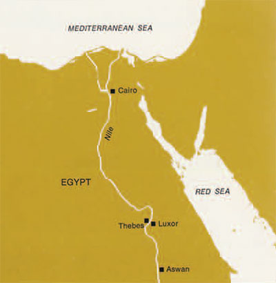 The Work of the University Museum at Thebes | Expedition Magazine Thebes Map on