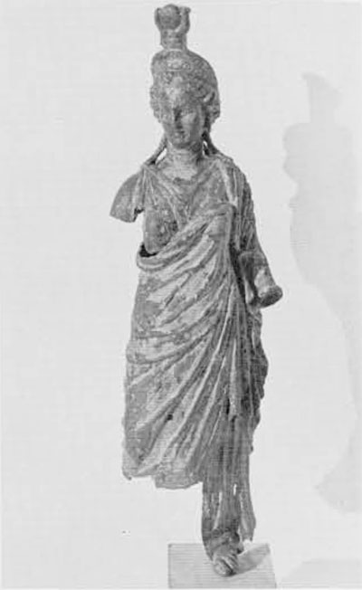 A bronze figurine of Isis-Fortuna, now in the Bodrum Museum, netted by a sponge dragger operating in the area where the Negro boy was found. This second clue to the position of an ancient wreck allowed the definition of a more precise search area.