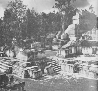 Masonry repair conducted thoughout the four and a half acres of the Central Acropolis at Tikal.