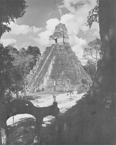 Temple I, one of the first buildings to receive attention in the program of preserving for the world the great architectural wonders of Tikal
