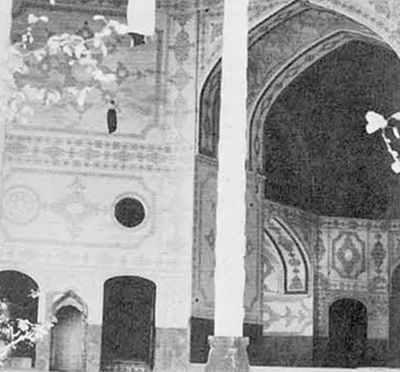 The Hasht Behist at Isfahan which is being restored under the guidance of the Italians.