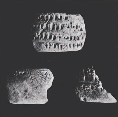 Three Proto-Elamite clay tablets from Tepe Yahya IVB.