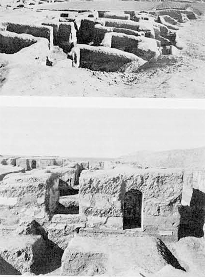 (top) Tepe, Madraseh, looking northeast from dump over W.2 in March 1940. Metropolitan Museum Iranian Expedition 1938-40 at Nishapur.